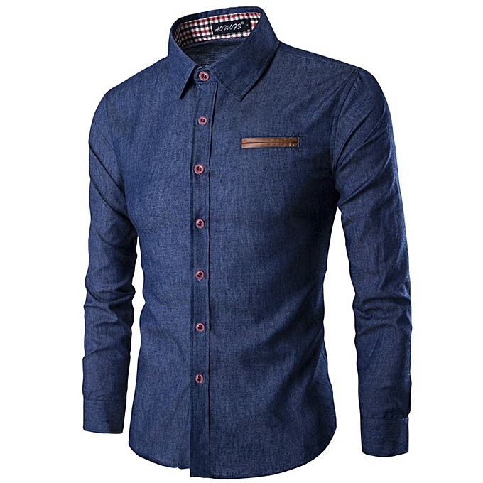 Generic New Stylish Casual Long Sleeves Men S Jeans Shirt With