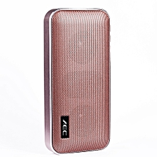 Palm-Sized Bluetooth Speaker & Power Bank 2-in-1 - Rose Gold