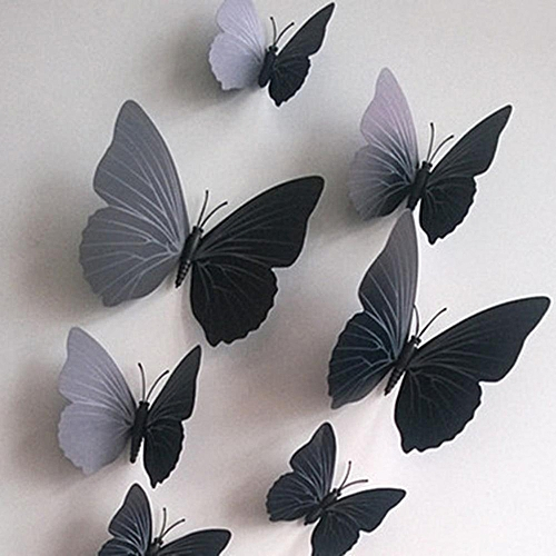Buy Generic 12PCS Simulate 3D Butterfly Wall Sticker With Magnet ...