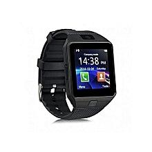 Touch Screen Smart Watch Phone DZ09 -  Black