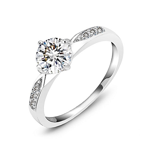 eb2357671f8 Genuine 925 Sterling Silver Ring Classic Wedding Ring Jewelry Cubic Zircon  Rings For Women Bridesmaid Gifts