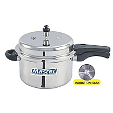 Aluminium Outerlid Pressure Cooker, 5 Litre,Induction Base .