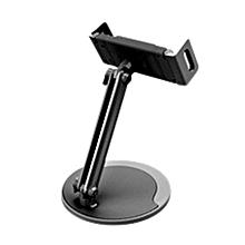 GB Universal Tablet Phone Holder Adjustable 360 Rotation Metal Base Desk Stand-black