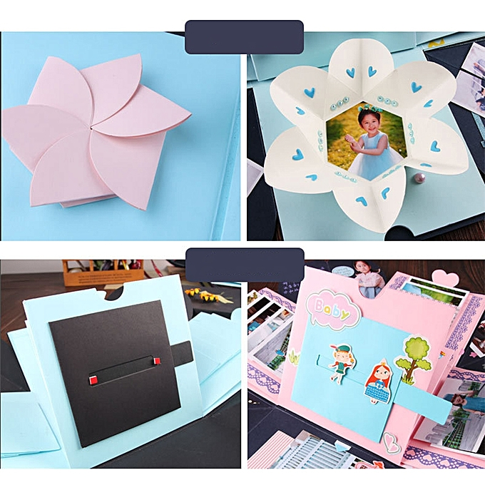 Birthday Party Explosion Surprise Gift Box Creative DIY Scrapbook Photo Album With Accessories Kit For