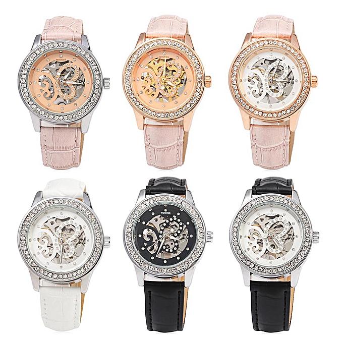 Fashion Winner F1205254 Women Automatic Hand-wind Movement Mechanical Watch Rubber Strap @ Best Price | Jumia Kenya