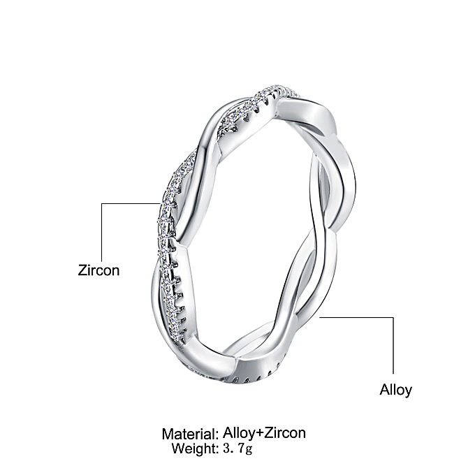 53f46cbc2de Gold 7 GDY02-06-A couple with twist rings with diamonds and simple fashion