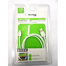 1meter usb cable-white