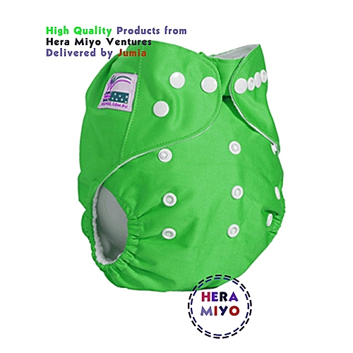 Washable Reusable Adjustable Baby Diaper with 2 Inserts