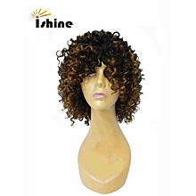 Remy Hair Machine Made Kinky Curly Wigs Women T1B/30 Color