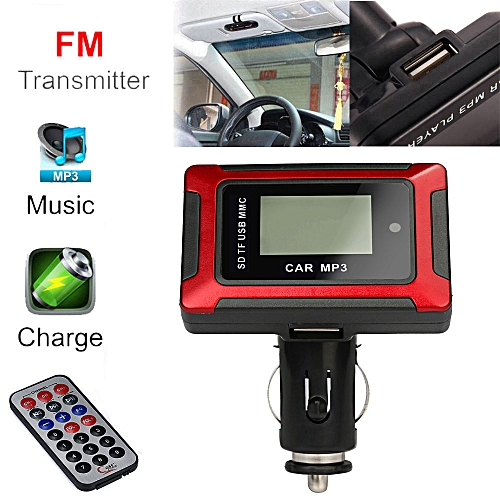 Hiamok Wireless MP3 Player Auto FM Transmitter Modulator LCD Car Kit USB Charger SD MMC