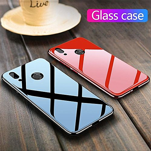 reputable site 4bc10 a4682 Glass Case For Honor Play Cover Full Protection Tempered Glass Back Cover  Casing For Huawei Honor Play Glass Housing (Honor Play-Red)