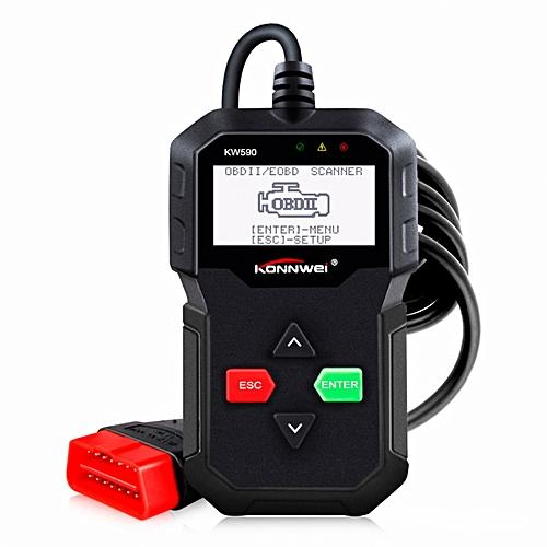 KONNWEI KW590 Universal OBDII Diagnostic Scanner Car Engine Fault Code  Reader Scan Tool
