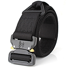 Tactical Belt with Quick Release Buckle and Fastener Tape Heavy Duty Waist Band for Outdoor Camping Mountaineering Climbing Training Hunting