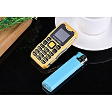 Mobile Cell Phone Long Standby Big Voice Flashlight Fm Mini Small Size-yellow