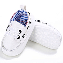 Baby Shoes Boy Girl Newborn Leather Crib Soft Sole Shoe Sneakers WH/1
