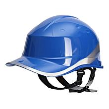 Diamond V Hard Hats Safety Work 8 Point Vented Construction Ratchet Helmets New # Blue
