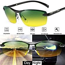 Refined Day Night Vision Men's Polarized Sunglasses Driving Pilot Mirror Sun Glasses