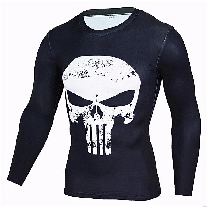 aecef794ac7a2 Fashion Men's Long-sleeved Punisher T-shirt