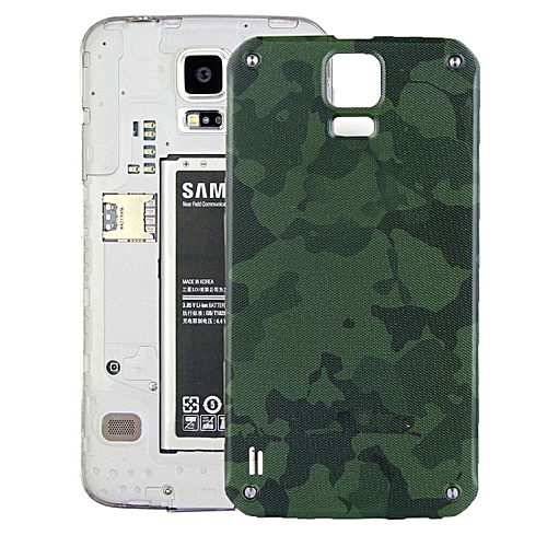 new arrival 64f22 99d7e iPartsBuy Battery Back Cover for Samsung Galaxy S5 Active / G870(Green)