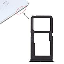 SIM Card Tray + SIM Card Tray / Micro SD Card Tray for Vivo X21i (Black)