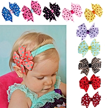10PC Babys Headband Hairband Elastic Wave Point Bowknot Photography