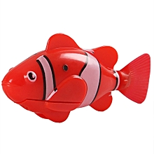 Artificial Fish Shape Simulation Plush Pet Cat Electric Simulated Fish Toys red
