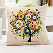 Life Tree Flax Pillow Cover 45*45cm In Color
