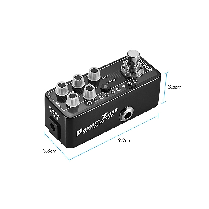 MOOER MICRO PREAMP Series 003 -Zone American-style High Gain Digital Preamp  Preamplifier Guitar Effect Pedal True Bypass