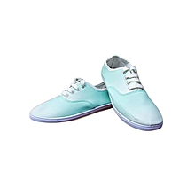 Seaform Green Lace Up Women's Canvas