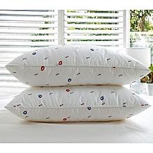 Elegant Set of 2 Bed Pillow (Pair- Pure fibre filled)