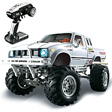 HG P407 1/10 2.4G 4WD Rally Rc Car for TOYATO Metal 4X4 Pickup Truck Rock Crawler RTR Toy-Black