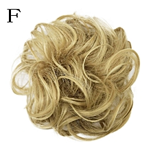 huskspo Women's Curly Messy Bun Hair Twirl Piece Scrunchie Wigs Extensions Hairdressing