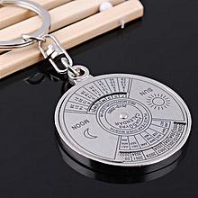 huskspo 50 years perpetual Calendar Keyring Unique Compass Metal KeyChain Gift