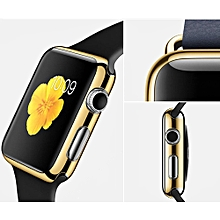 Ultra-Slim Electroplate PC Hard Case Cover For Apple Watch Series 1 42mm GD-Gold