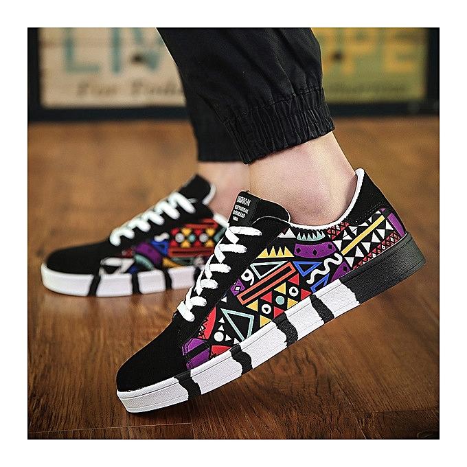 New men s casual shoes tide shoes canvas shoes sports tide men s shoes-black 378fb158f0d13