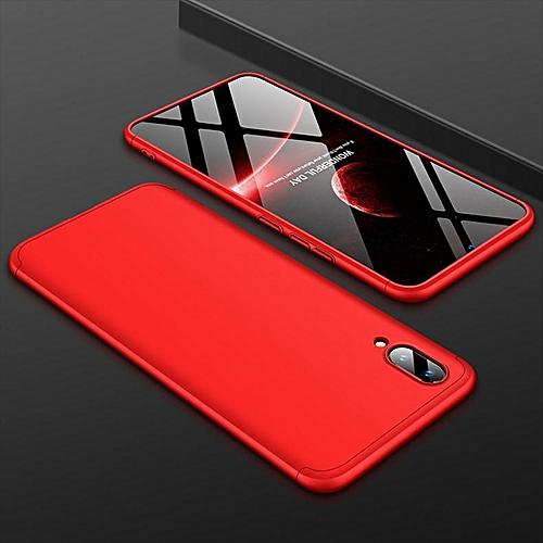 buy online 84bee 6c868 For Vivo V11/V11Pro Case 360 Degree Full Protection Hard PC Shockproof  Matte Case For Vivo V11 / V11 Pro Case Cover (Red)