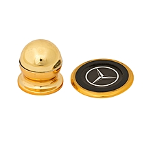 Mobile Phone Holder with Mercedes Logo - Gold