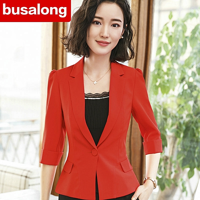 New Korean Version Of The Summer Casual Sleeves Small Suit Jacket Las Overalls Are Slimming Body