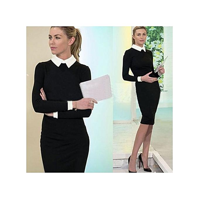7230a716b4 Women Elegant Office Dress Summer Dresses Wear To Work Sheath Bodycon Dress  Work Dresses-black