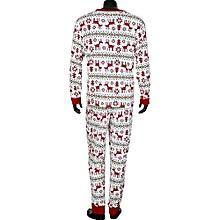 Men's Underwear Intimates  Christmas XMAS Adult Man Pajamas Set Deer Sleepwear Nightwear Pyjamas Gift XL@Red