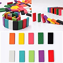 240pcs 10 Colors Authentic Standard Wooden Children Kids Domino Games Toys Building Blocks For Kids Toy