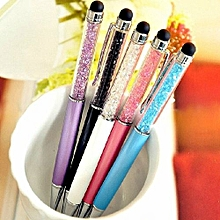 Crystal 2-in-1 Touch And Writting Pen For Touch Capacitive Screen Black