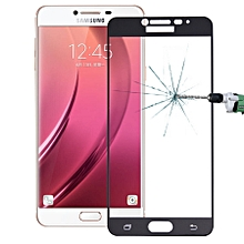 For Samsung Galaxy C7 / C700 0.26mm 9H Surface Hardness Explosion-proof Silk-screen Tempered Glass Full Screen Film (Black)