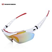 Robesbon TSR838 Windproof Cycling Sunglasses Bike Polarized Goggles Eyewear White