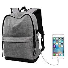 Olivaren  USB High School Bags For Teenagers Boys Schoolbag Black Large Capacity BagGray