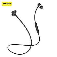 Awei WT10 Magnet Attraction Wireless Bluetooth 4.2 Stereo Sports Headphones-BLACK