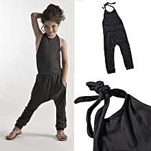 Unisex Bandage Blackless Jumpsuit - Grey - 100