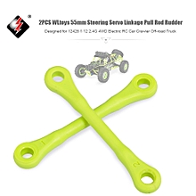 2PCS Steering Servo Linkage Pull Rod Rudder 55mm for 12428 1/12 2.4G 4WD Electric RC Car Crawler