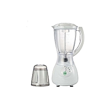 1.5 L White 2 in1 Blender with Grinder