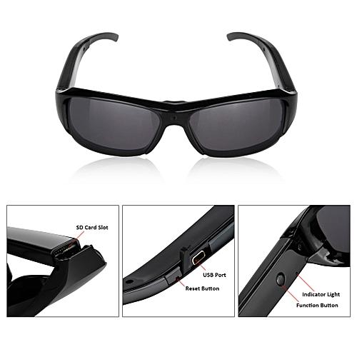 fd26e213f2c Excelvan HD700 - HD Polarized Sunglasses Mini Camera DV Eyewear Camcorder -  Black